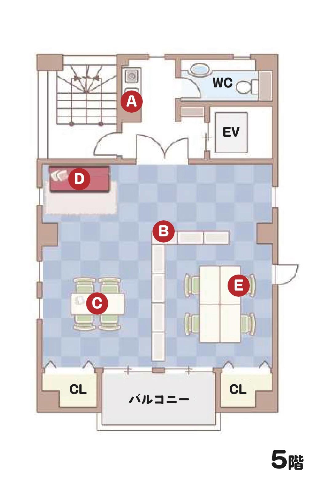 5F オフィス&レスパイトフロア マップ